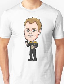 Star Trek DS9 - Chief Miles Edward O'Brien with Dart and Beer Unisex T-Shirt