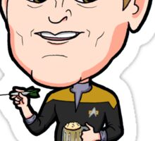 Star Trek DS9 - Chief Miles Edward O'Brien with Dart and Beer Sticker