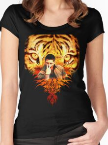 Jensen's eye of the tiger Women's Fitted Scoop T-Shirt