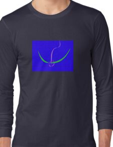 Bow and Arrow Solid Blue Long Sleeve T-Shirt