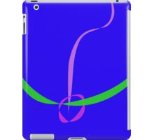 Bow and Arrow Solid Blue iPad Case/Skin