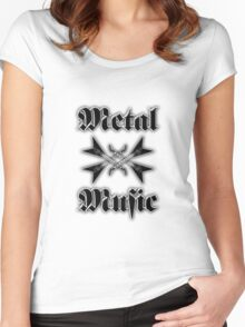 Metal music Women's Fitted Scoop T-Shirt