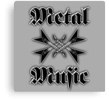 Metal music Canvas Print