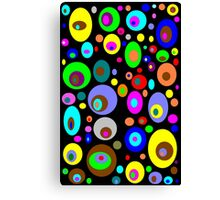 Retro Colorful Circles Canvas Print