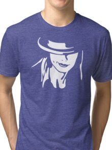 Girl And Hat Tri-blend T-Shirt