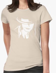 Girl And Hat Womens Fitted T-Shirt