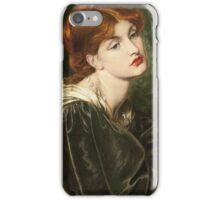 Dante Gabriel Rossetti - Veronica Veronese , Portrait Of A Woman iPhone Case/Skin