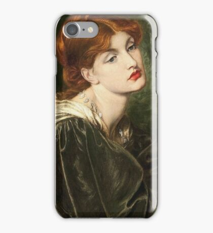 Dante Gabriel Rossetti - Veronica Veronese , Portrait Of A Woman iPhone Case/Skin