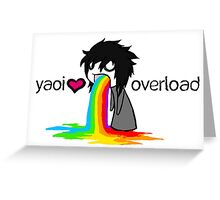 Yaoi Overload Greeting Card