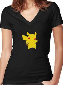 Mouse Pokemon - Pikachu Women's Fitted V-Neck T-Shirt