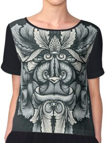 Filigree Leaves Forest Creature Beast Variant Chiffon Top