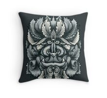 Filigree Leaves Forest Creature Beast Variant Throw Pillow