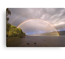 Loch Rannoch Rainbow + reflection bow Canvas Print