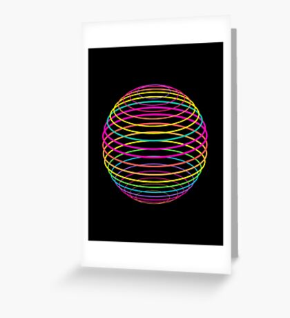 Neon Strings of the Globe Greeting Card