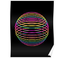 Neon Strings of the Globe Poster