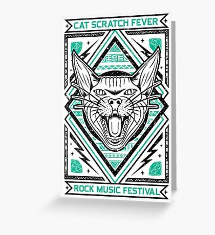 Cat Scratch Greeting Card