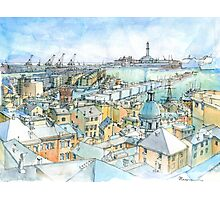 Il Porto (view of Genoa) Photographic Print