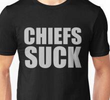 Oakland Raiders - CHIEFS SUCK - Silver Text Unisex T-Shirt