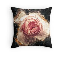 Pink English rose as seen from above  Throw Pillow