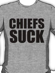 Oakland Raiders- CHIEFS SUCK - BLack Text T-Shirt