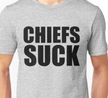 Oakland Raiders- CHIEFS SUCK - BLack Text Unisex T-Shirt