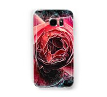Pink English rose as seen from above  Samsung Galaxy Case/Skin