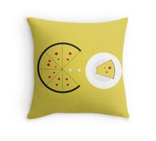 PAC-PIZZA Throw Pillow