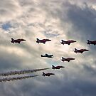 Red Arrows and Spitfire by Dean Messenger