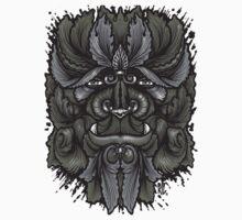 Filigree Leaves Forest Creature Beast Vintage Variant One Piece - Short Sleeve