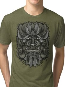 Filigree Leaves Forest Creature Beast Vintage Variant Tri-blend T-Shirt