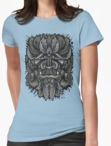 Filigree Leaves Forest Creature Beast Vintage Variant Womens Fitted T-Shirt