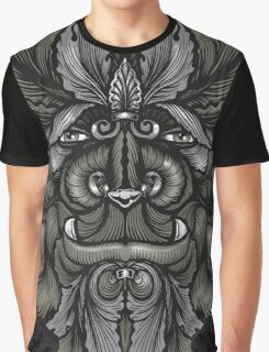 Filigree Leaves Forest Creature Beast Vintage Variant Graphic T-Shirt