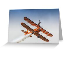Breitling Wing Walker handstand Greeting Card