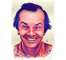 Smiling young Jack Nicholson digital painting Poster