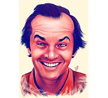 Smiling young Jack Nicholson digital painting Photographic Print