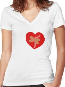 Sticks and Stones – Part 1 Women's Fitted V-Neck T-Shirt