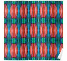 Morning Tulips Abstract Pattern Poster
