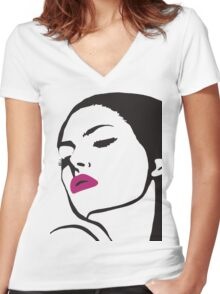 Unidentified Female Object (Clean) Women's Fitted V-Neck T-Shirt