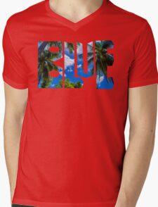 The Palm Sky Blue A Mens V-Neck T-Shirt
