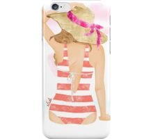 girl at sunset iPhone Case/Skin