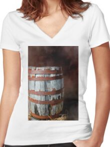Rusty Barrel Women's Fitted V-Neck T-Shirt