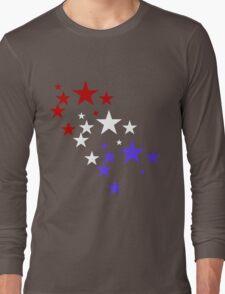 Red White Blue Stars Long Sleeve T-Shirt