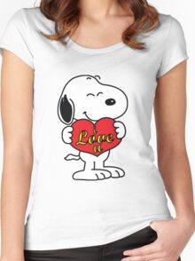 Snoopy Fans love Women's Fitted Scoop T-Shirt