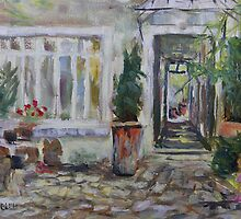 Double courtyard Rue Rodier Paris France by TerrillWelch