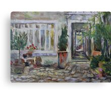 Double courtyard Rue Rodier Paris France Canvas Print