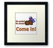 Kicks Show Store Logo Framed Print