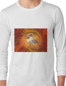 Gulls Caught in Art Life Large Long Sleeve T-Shirt