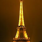 Eiffel At Night by JohnYoung