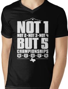 Not 1 but 5 Championships Mens V-Neck T-Shirt