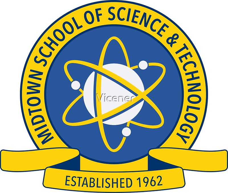 u0026quot;Midtown School of Science and Technology Logou0026quot; Stickers by Vicener : Redbubble